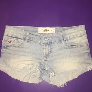 Hollister light color denim shorts (mark on back)